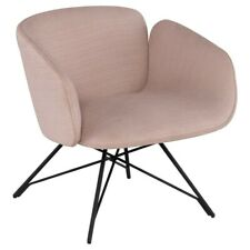 "27.3"" W Charlene Occasional Chair Modern Steel Base Mauve Fabric Contemporary"