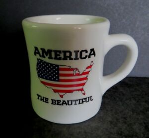 Waffle House Mug 2012 America the Beautiful Tuxton red white & blue FREE SHIP