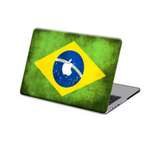 """Rubberized Brazil Flag Hard Case Cover For Macbook Pro 13""""15""""Touch Bar Air 11""""13"""