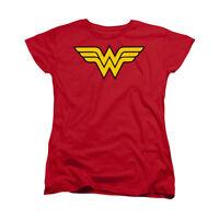 DC COMICS WONDER WOMAN LOGO Licensed Women's Graphic Tee Shirt SM-2XL