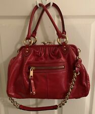 MARC JACOBS STAM Rare Strawberry Patent Leather Handbag With Dust bag