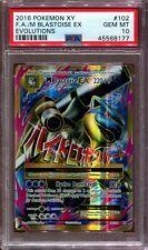 Mega Blastoise EX - Full Art - XY Evolutions - 102/108 - PSA 10