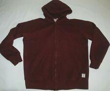 Carhartt Hoodie Hooded Holbrook Jacket Cotton Sweatshirt Zip Dark Red Pocket XL