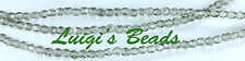 50 Black Diamond Czech Firepolish Faceted Beads 4mm