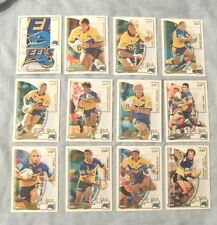TEN SETS OF 2002  PARRAMATTA EELS  SELECT NRL CHALLENGE RUGBY LEAGUE CARDS