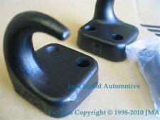BLACK FRONT TOWING HOOKS JEEP WRANGLER