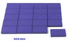 LEGO Violet 1x2 Basic carrelage/Dalles/PLAQUES/20 pièces