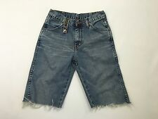Mens Wrangler Reworked Denim Shorts - W26 - Faded Navy Wash - Great Condition