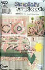 Quilt Block Sewing Pattern Bloom Stripe Pillow UNCUT OOP SIMPLICITY 7095