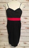 RUBY ROX Sundress Spaghetti Strap Sun Dress Size 7 Black White Polka Dots