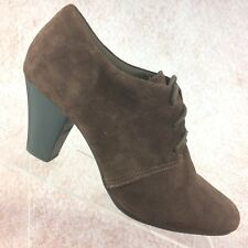 Clarks Bendables Ankle Granny Boots Booties Brown Suede Leather Lace up - 10 M