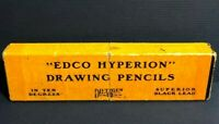 Vintage EDCO HYPERION DRAWING PENCILS Eugene Dietzgen Co. Surveying BOX ONLY