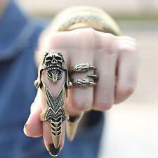 Korean Rock Skull Knuckle Full Rock Punk Finger Joint Hinged Ring Top Seller