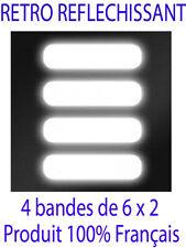 lot de 4 Stickers bandes Autocollant Rétro-Réfléchissant casque Voiture Moto ...