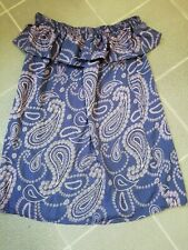 LADIES DRESS SIZE 16 LARGE BEACH DRESS / COVER UP NAVY LILAC