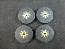 40K Chaos Space Marines Painted Objective Markers / Bases (4) - Chaos Undivided