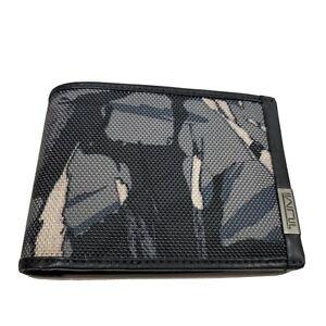 TUMI ALPHA wallet SLG Double Billfold RFID gray Highlands nylon camo new