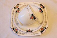 Shelley Vintage Cina Tè Coppa & Piattino Trio Lomond Forma Art Deco mazzo di frutta