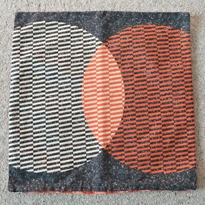 IKEA VARLOK Grey Orange Beige Geometric Zip Cushion Cover 50 x 50 cm #2
