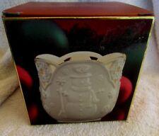 Lenox Merry Lights Votive Tea Candle Holder Snowman Christmas Nib