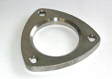 """Dreiecksflansch 3-Loch Flansch 10mm Edelstahl - 63,5mm Rohr 2,5"""" Fase Brennring"""