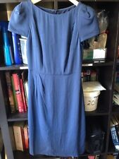Lisa Ho Navy Blue Cap Sleeve Below Knee Dress Size 6