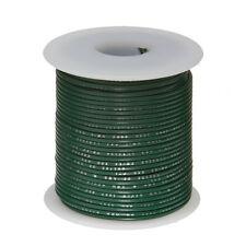 """28 AWG Gauge Stranded Hook Up Wire Green 100 ft 0.0126"""" MIL Spec 600 Volts"""