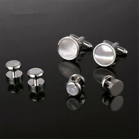 Men's Unique Charm Cufflinks and Studs Set for Mens Formal Shirt Accessories
