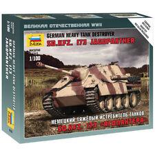 Zvezda 6183 cazacarros alemán Pesado Tanque des 1:100 Kit Modelo Militar