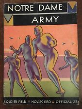 1930 Notre Dame vs Army Football Program/KNUTE ROCKNE'S FINAL YEAR/FRANK LEAHY !