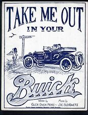 Take Me Out In Your Buick - Large Format Sheet Music