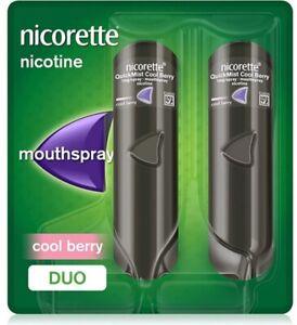 Nicorette Quickmist Cool Berry Duo Pack 1 mg - 2 x 150 Nicotine Spray