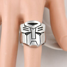 Optimus Prime Cosplay Mask Face Alloy Ring Decepticons Transformers Fashion Ring