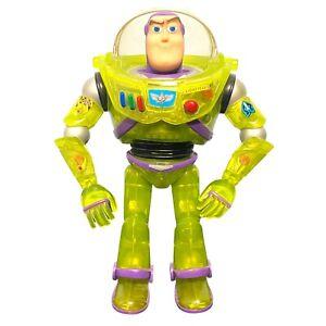 "Disney Toy Story Power Boost Buzz Lightyear 1998 Green Clear 9.5""Figure - Rare"