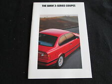 1992 BMW 3 Series Coupe Catalog E36 318is 325is US Sales Brochure Prospekt