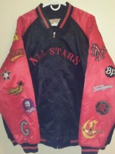 Negro League All Stars Baseball RED Bomber Jacket Coat by JC Freeman, Size: 4XL