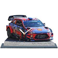LOEB, Rallye Monte Carlo 2019,Hyundai i20 WRC, en horloge miniature 01