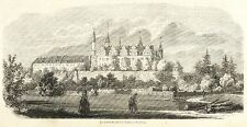 MERSEBURG - SCHLOSS & DOM - Holzstich 1857