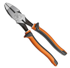 """Klein 2000-SERIES INSULATED SIDE-CUTTING PLIERS 9"""" 1000V High-Leverage *USA Made"""