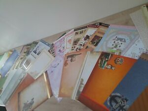 45 x Hunkydory sheets of toppers/backing Card (lucky dip bundle) Bargain deal