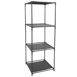 Black 3 Cube Shelves Storage Unit Home Display 3 Tier Shelf Organiser Gift 104cm
