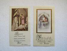 LOT de 2 IMAGES PIEUSES ANCIENNES : Souvenir de Communion, 1952