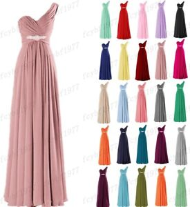One shoulder Formal Evening Ball Gown Party Prom Bridesmaid Dress Stock Size6-26