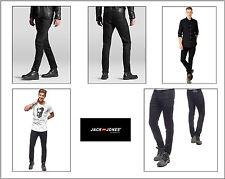 Jack & Jones Jeans JOS 800 BLACK Herren SlimFit Denim Hose schwarz Hipster Look