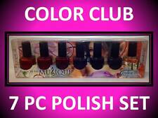7 PACK COLOR CLUB DANCE TO THE MUSIC MUSIQUE FULL SZ NAIL POLISH LOT VARIETY SET