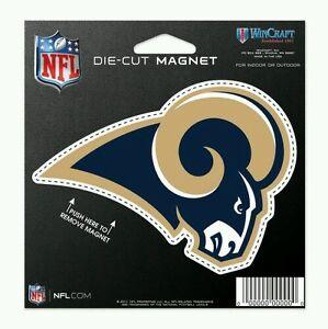 """LOS ANGELES RAMS DIE-CUT VINYL MAGNET CLASSIC LOGO 4""""X5"""" NFL LICENSED USA SELLER"""