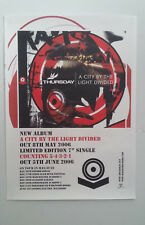 THURSDAY 'A City By The Light Divided' Promotional Poster / Flyer 2006