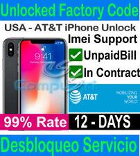 AT&T SEMI PREMIUM IPHONE 8 8+ 7+ 7 6 UNLOCK SERVICE CLEAN, UNPAID, CONTRACT