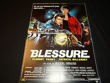 BLESSURE florent pagny   affiche cinema   moto