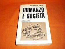EDWIN BERRY BURGUM, ROMANZO E SOCIETÀ, EDITORI RIUNITI